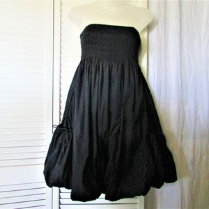 Only UPTOWN black cotton balloon tube dress M